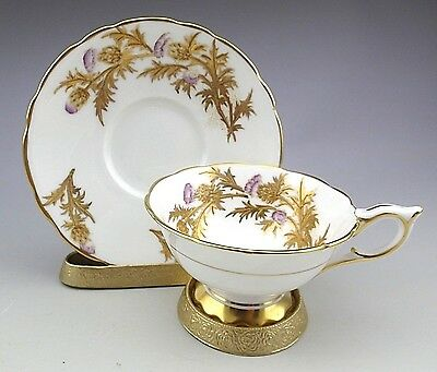 Antique Porcelain English Royal Stafford England Tea Cup & Saucer
