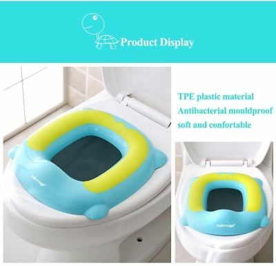 Portable Kids Baby Toilet Seat Baby Soft Toddler Travel Training-Blue