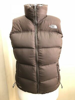 North Face 700 Genuine Ladies Brown Goosedown Gilet Body warmer Medium 3edd219d6