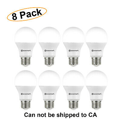 LED LIGHT BULB 60 Watt Equivalent Non Dimmable Daylight Bulbs EcoSmart 8 PACK