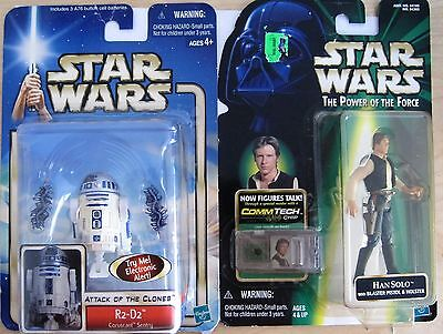 Star Wars Han Solo and Attack of the Clones R2-D2 - Lot of 2 Figures NEW