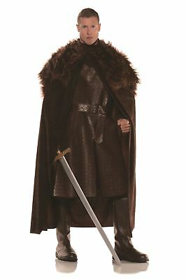 Brown Renaissance Cape Game Of Thrones Adult Mens Halloween Costume OS