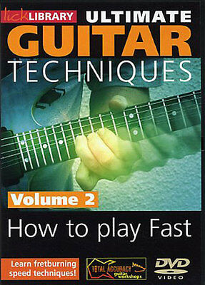 ULTIMATE GUITAR Learn to Play FAST FRET-BURNING SPEED TECHNIQUES Video DVD Vol 2