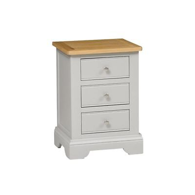 Malvern Mink Bedside Table with Oak Top/Solid Wood Painted Bedside Cabinet /New