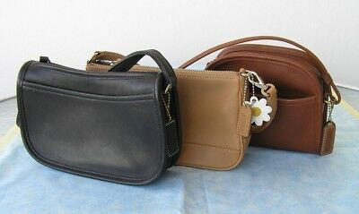 58aff6479eb 3 Authentic Vintage Coach Handbags Excellent Condition, All Leather, Small