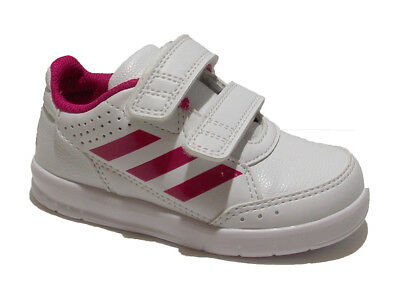 Trainers Shoes Sports Velcro White Girl Synthetic Leather Lining Boys Kids Sneak
