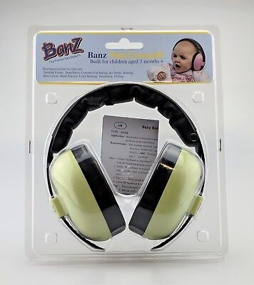 BanZ Mini Earmuffs Hearing Protection Noise Cancelling For Babies Factory Sealed