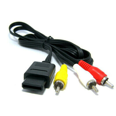 Super Nintendo / SNES, N64 & Gamecube A/V RCA Cable (1.8m / 6ft)