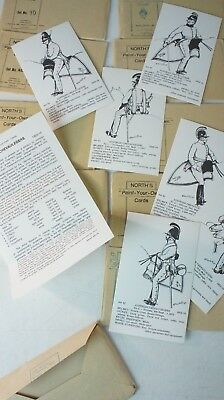 10 x Rene North North´s Paint your own Cards Military Uniforms Vorlage  K-286