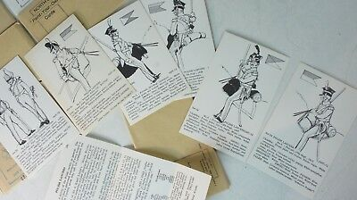 7 x Rene North North´s Paint your own Cards Military Uniforms Vorlage  K-287