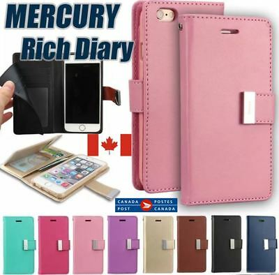 For iPhone 6 7 8 Plus X Multi Card Leather Card ID Wallet Flip Pouch Case Cover
