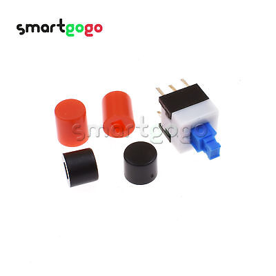 DIP Push Button Tact Switch 8X8mm Cap 6Pin Square Self-locking/Without Lock BSG