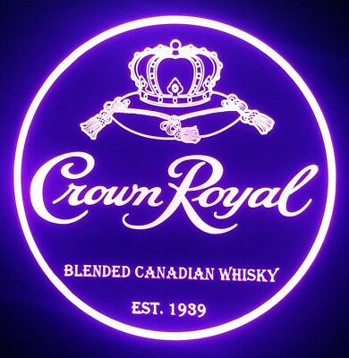 Crown Royal 12 x 12 Man Cave Multi color LED Sign led box with remote