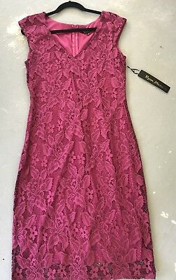 ANTHROPOLOGIE Ryan Michelle Lace Overlay Sheath Dress Sz L NWT