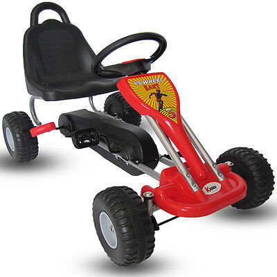 Kiddo Classic Design Red Kids Childrens Pedal Go-Kart Ride-On Car - New