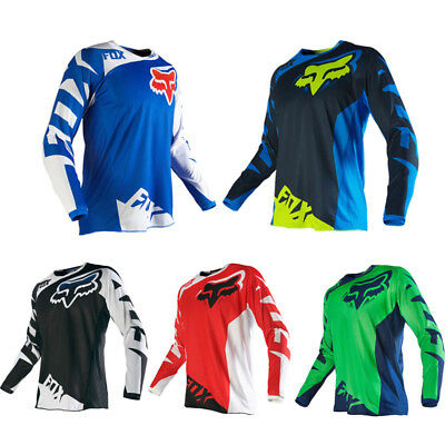HOT!Mens FOX Motorcycle Jerseys Mountain Bike Motocross Long Sleeve T- Shirt