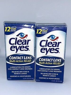 Clear Eyes Contact Lens  0.5 Fl Oz 15 Ml Pack Of Two