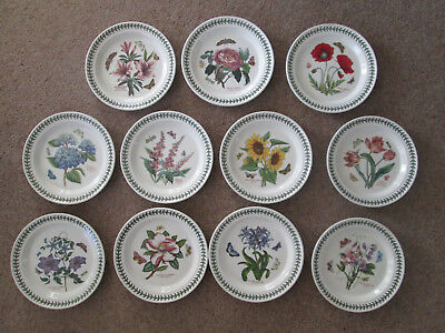 "Portmeirion Botanic Garden Dinner Plates 10.5"" Wide All New"