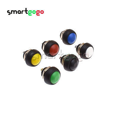 Mini 12mm 2pin Waterproof Momentary ON/OFF Push Button Round Switch colorful BSG