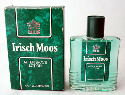 RARE VINTAGE 80'S IRISCH MOOS AFTER SHAVE LOTION 4711 SIR 100ml 3.5oz NEW NOS !