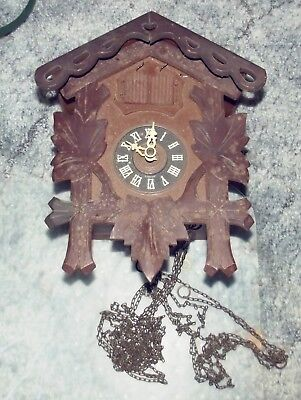 Old German Musical Cuckoo Clock Schmeckenbecher Regula To Restore or For Parts