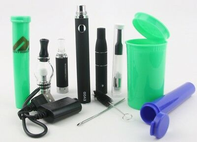 4 in 1 EVOD Glass Blunt Kit 1100 mah Pen w/ 3 Odor Free Containers