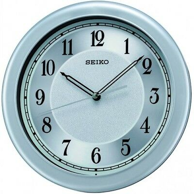 Seiko Analogue Silver Dial Quiet Sweep Seconds Hand Round Dial Wall Clock QXA592