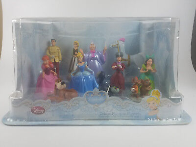 New Disney Store Cinderella DELUXE Figurine Playset Exclusive Cake Toppers 11pc