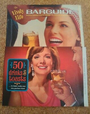 1960s Southern Comfort bar mixer brochures Lively Life Barguide Drinks & Toasts