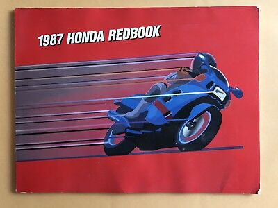 1987 Honda Red Book- Vintage Motocross Classic Motorcycles