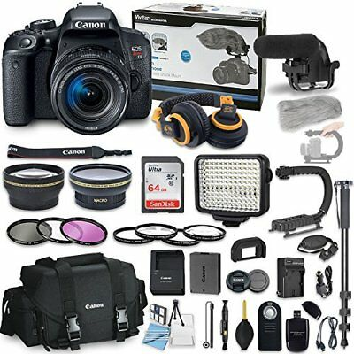 Canon EOS Rebel T7i Camera Bundle with Canon EF-S 18-55mm f/4-5.6 IS STM Lens