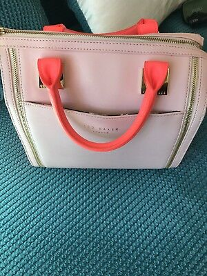 7ee5d64bf0fa53 Bnwot Ted Baker Naro Bright Pink Crosshatch Tote Bag Rrp £159