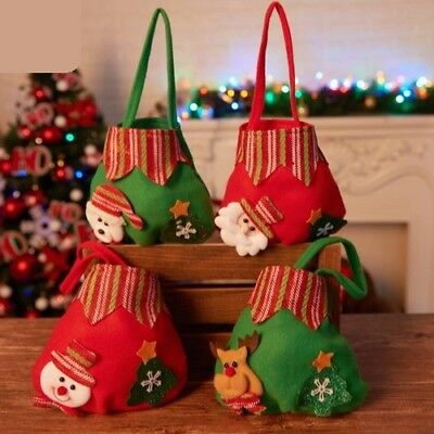 Christmas Candy Gift Bags Decoration Children Adult Gifts Tote Bag Ornaments Set
