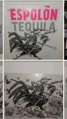 ** NEW ** EL ESPOLON TEQUILA Skeleton [TWO POSTERS] RAMON the ROOSTER Man Cave