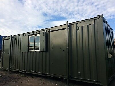 24 x 9ft Welfare Unit With Shower / Toilet / Kitchen / Dry Room / Anti-vandal