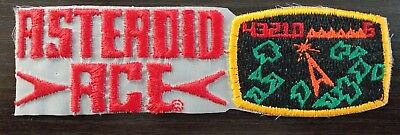Vintage 1980's Asteroid Ace Arcade game patch
