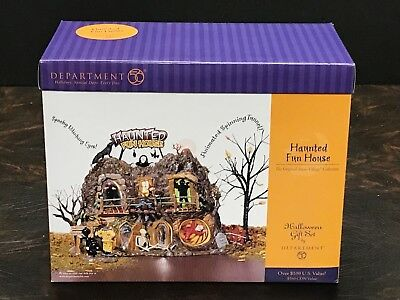 Department 56 Snow Village Haunted Fun House Gift Set  Mint New In Box  Sealed!