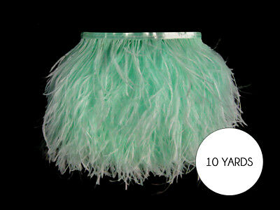 10 Yards - Mint Green Ostrich Fringe Trim Wholesale Feather Prom Dress Wedding