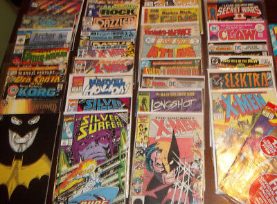 100 COMIC LOT ! SPANNING OVER 60 YEARS DC MARVEL DELL  x men silver surfer etc