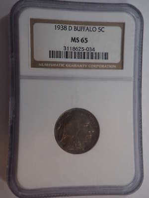 1938 D Buffalo Nickel MS 65 NGC - SKU 728G