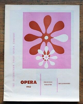OLD PROGRAMME Princess Theatre Melbourne Elizabethan Opera Co 1963 Faust