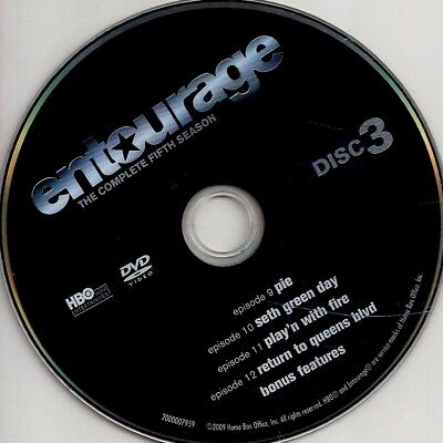 Entourage HBO (DVD) Season 5 Disc 3 Replacement Disc U.S. Issue Disc Only #56A