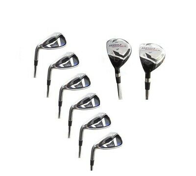 Agxgolf Ladies Left Hand Xs Graphite Iron Set 4&5Hy+6,7,8 & 9+Wedges All Lengths