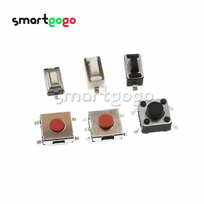 3X6X2.5mm-6X6X5mm Push Button Switch Tact Switch Micro Switch 2/4/5Pin SMD BSG