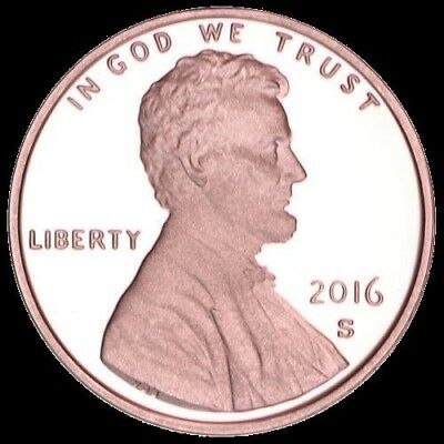 2016 S Lincoln Shield Cent PROOF Deep Cameo 1¢  Free Shipping