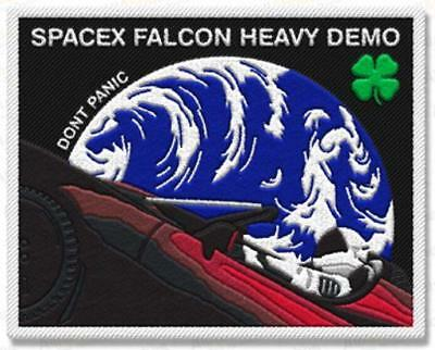 Updated Falcon Heavy W/4-Leaf Clover Tesla Starman  Space Mission Patch