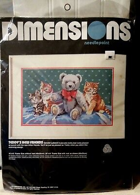 Dimensions Teddy's New Friends Needlepoint Kit # 2365, Unopened, 1989