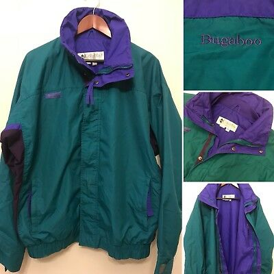 VINTAGE COLUMBIA BUGABOO Mens Large Purple Green Ski Jacket