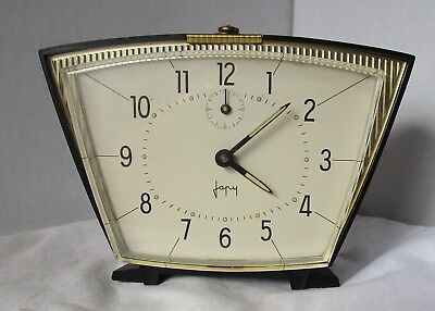 Neat Almost As New Black Plastic Mechanical Alarm Clock from JAPY