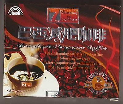 4 Boxes Slimming Coffee Brazilian 7 Days Authentic Quick Weight Loss